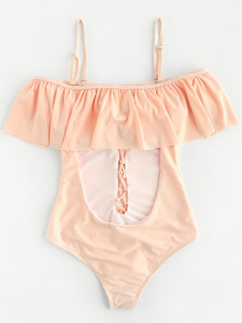 Plain Falbala Hollow Monokini