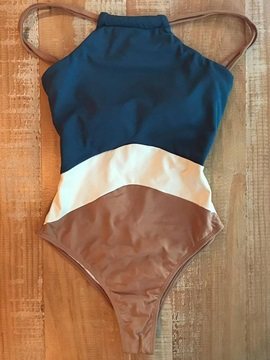 Sexy Color Block One Piece Swimwear