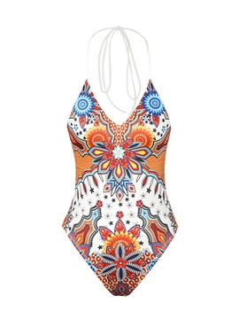 Geometric One Piece Sexy Bathing Suit