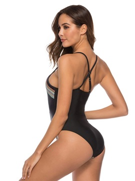 Ethnic Print One Piece Sexy Swimwear