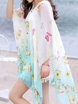 Beautiful Butterfly Print Cover-Up