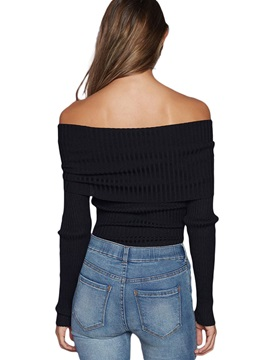 Plain Crotchless Off the Shoulder Teddy