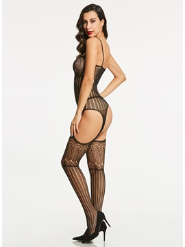 Hollow Fishnet Open Crotch Pantyhose