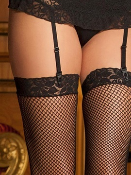 Black Lace Panty Apron Garter Belt Gown