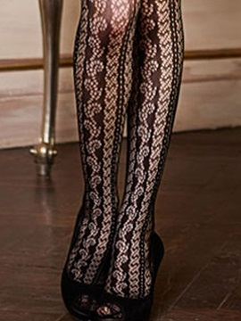 Solid Silk Cut-Out Stockings
