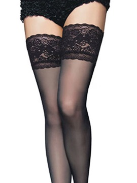 Black See-through Cut-Out Women Stockings