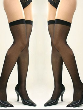See-through Black Graceful Women Stockings