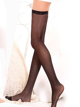 Solid Color See-through Stockings