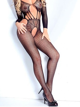 Graceful Hollow Body Stocking for Women