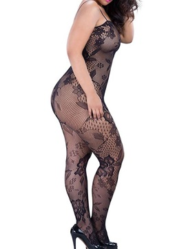 Black See-through Graphic Body Stocking