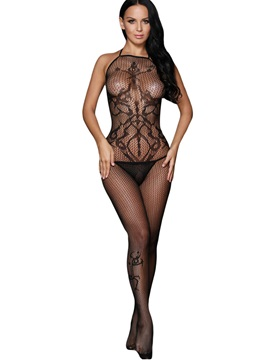 Solid Color Fishnet Cut-Out Pantyhose