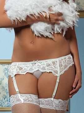 Lace Affair Garter Belt Black Plus