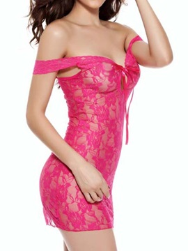 Sexy Lace & Mesh Chemise Women's Lingerie