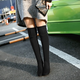 Faux Suede Chunky Heel Women's Boots