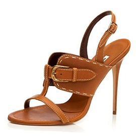 PU Buckles Stiletto Heel Sandals