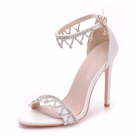 PU Rhinestone Stiletto Heel Women's Wedding Shoes
