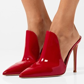 Patent Leather Women's Mules Shoes