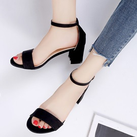 Heel Covering Line-Style Buckle Women's Sandals