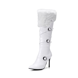 Pointed Toe Stiletto Heel Women's Knee High Boots