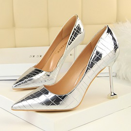 PU Pointed Toe Stiletto Heel Women's Chic Pumps