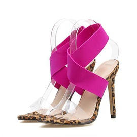 Elastic Band Strappy Stiletto Heel Women's Sandals