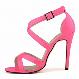 Plain Heel Covering Stiletto Heel Women's Sandals
