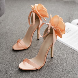 Open Toe Stiletto Heel Heel Covering Prom Sandals