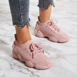 Lace-Up Low-Cut Upper Round Toe Casual Sneakers