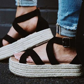 Buckle Open Toe Heel Covering Casual Women's Sandals