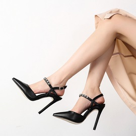 Stiletto Heel Pointed Toe Buckle Elegant Women's Sandals