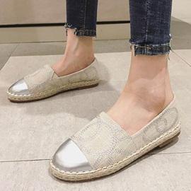 Round Toe Slip-On Low-Cut Upper Women's Flats
