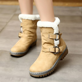 Round Toe Hasp Casual Women's Snow Boots