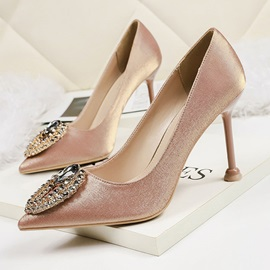 Slip-On Stiletto Heel Pointed Toe Elegant Pumps