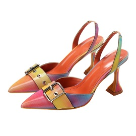 Pointed Toe Slip-On Stiletto Heel Casual Sandals