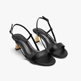Round Toe Buckle Slingback Strap Western Sandals