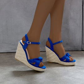 Open Toe Buckle Wedge Heel Sweet Sandals