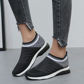 Round Toe Slip-On Casual Sneakers