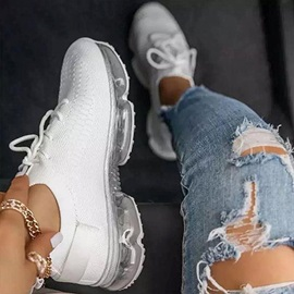 Thread Round Toe Low-Cut Upper Flat With Sneakers