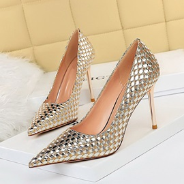 Pointed Toe Sequin Slip-On Western Thin Shoes