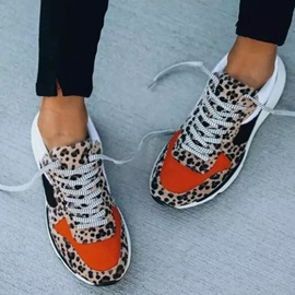 Round Toe Low-Cut Upper Lace-Up Casual Sneakers