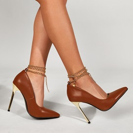 Pointed Toe Slip-On Heel Covering Professional Sandals