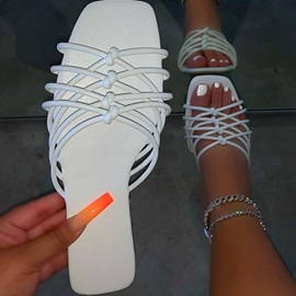 Toe Ring Flat With Slip-On Summer Slippers