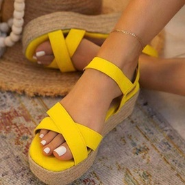 Flat With Open Toe Buckle Buckle Sandals