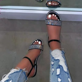 Flat With Round Toe Buckle Low-Cut Upper Sandals