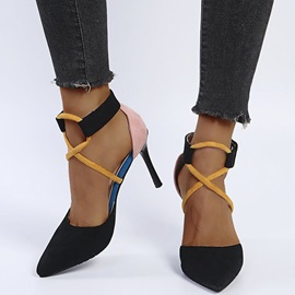 Buckle Pointed Toe Sweet Sandals
