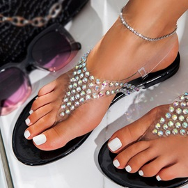 Thong Slip-On Flat With Western Sandals