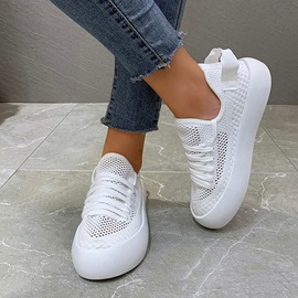 Round Toe Lace-Up Lace-Up Casual Sneakers