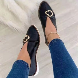 Sequin Block Heel Pointed Toe Casual Thin Shoes