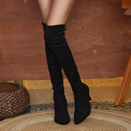 Leopard Pointed Toe Lace-Up Back Western Boots