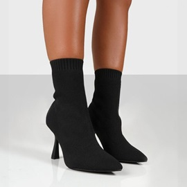 Pointed Toe Slip-On Plain Western Boots